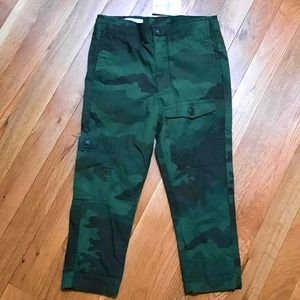 NWT Crew cut jersey lined green camo pants